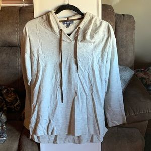 Cream color hooded shirt